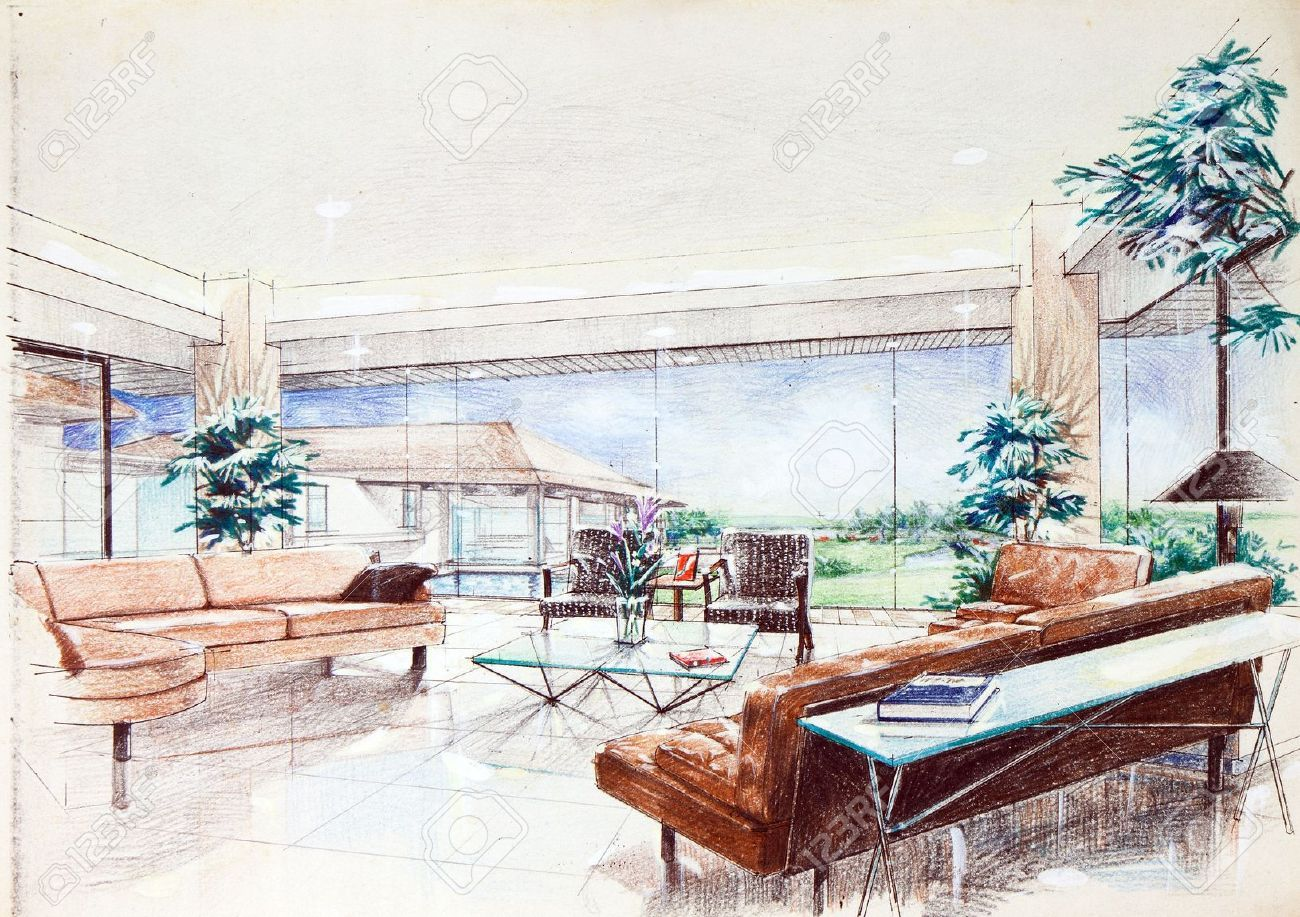 Interior Design Color Sketches Interior Design Colored Sketches  Google Search  Interior