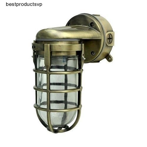 Antique brass wall sconce industrial light fixture outdoor marine antique brass wall sconce industrial light fixture outdoor marine mount aluminum mozeypictures Gallery