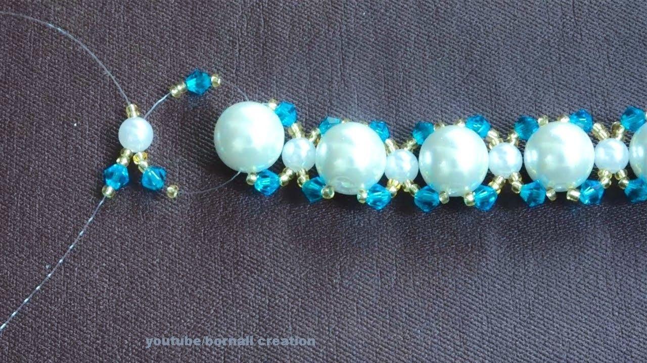 Photo of Bridal Bracelet Making Tutorial part-1| diy jewellary making tutorial by bornali creation