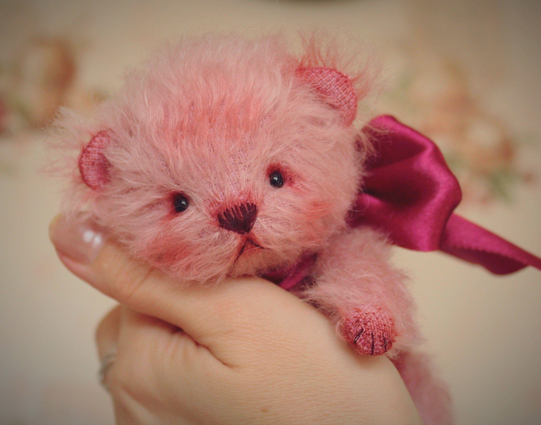 SOLD! Christmas teddy bear cub. Handmade teddy bear, plushy teddy bear, ooak plush animals, lovely teddy bear, cute Christmas gift for girl #teddybear