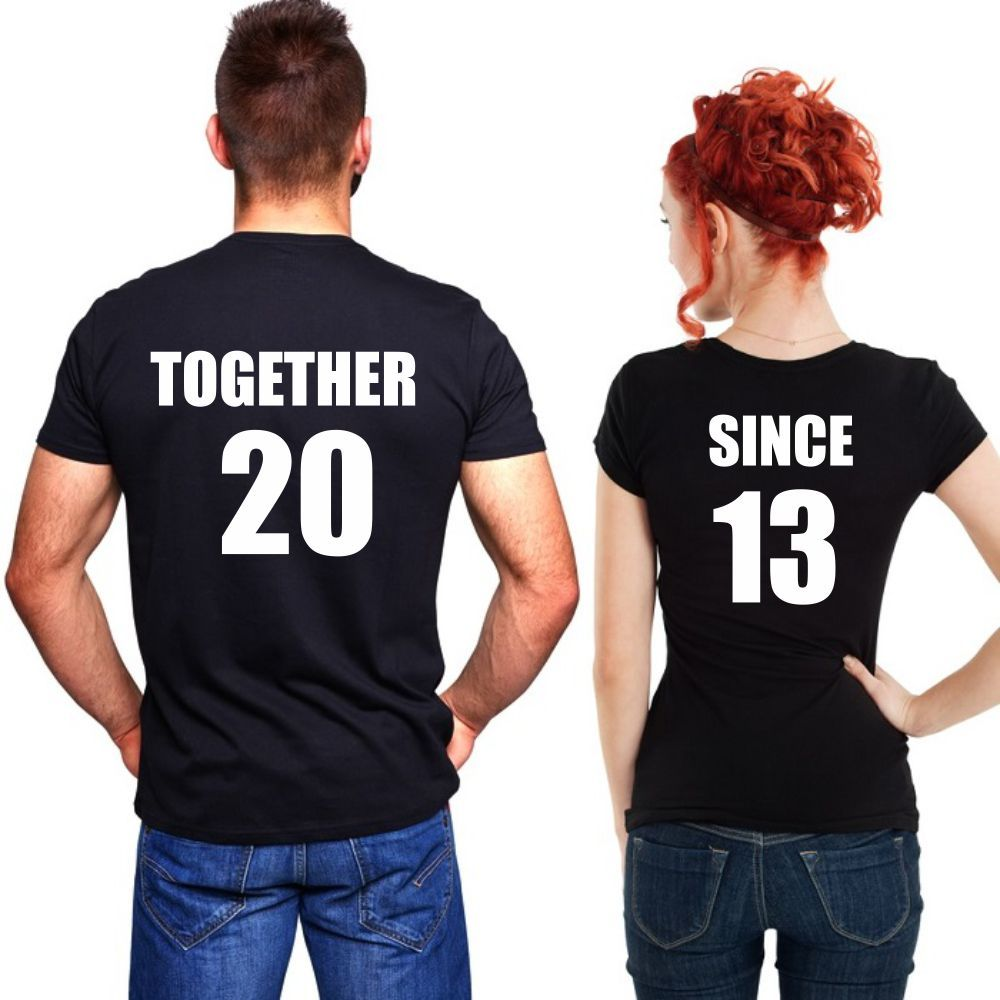 tee shirts personnaliser together since family in. Black Bedroom Furniture Sets. Home Design Ideas
