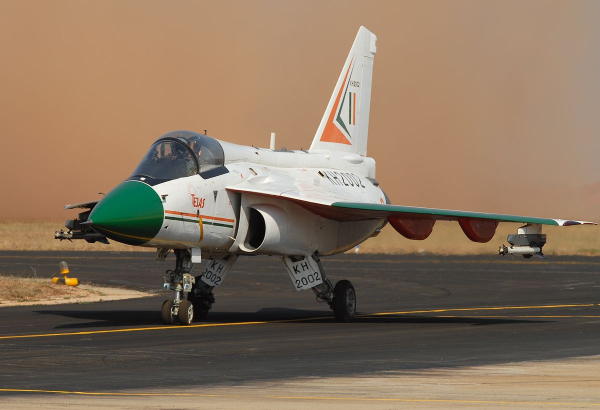 Only three Tejas systems are of foreign design: the multi-function displays by Sextant (France) and Elbit (Israel), the helmet-mounted display and sight cueing system by Elbit (Israel), and the laser pod by Rafael (Israel).