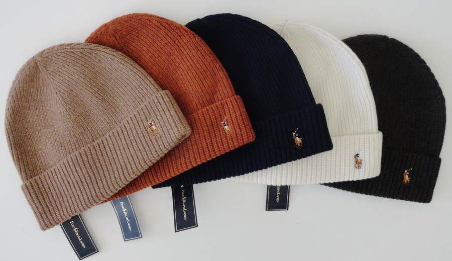 NEW nwt Men's Polo RALPH LAUREN Cuffed Merino Wool Hat Ski Cap Beanie  $42