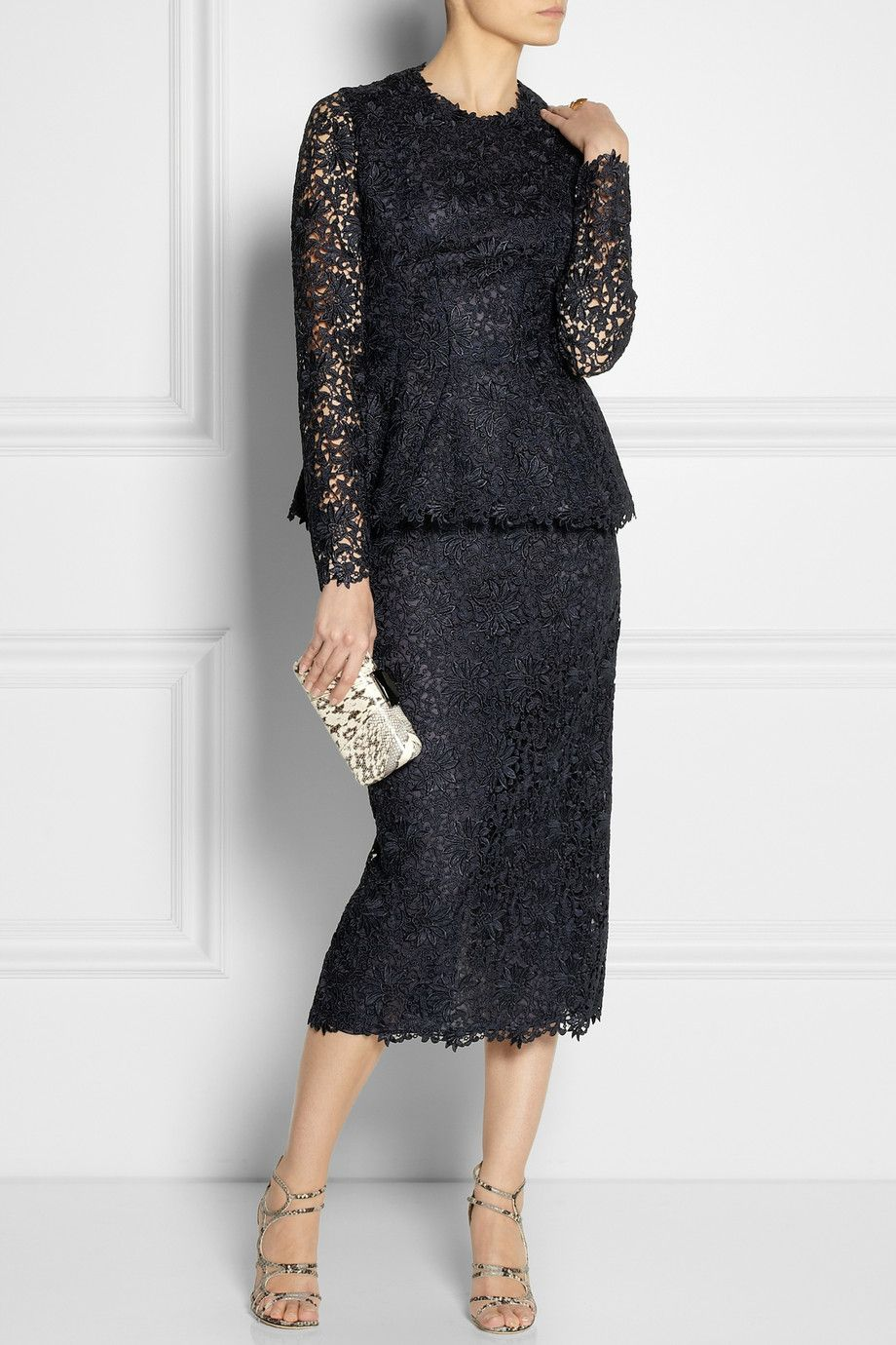 Stella mccartney dixie macramé lace twopiece dress fashion