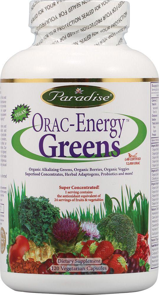 Paradise Herbs Orac Energy Greens -- 120 Vegetarian Capsules from vitacost.com