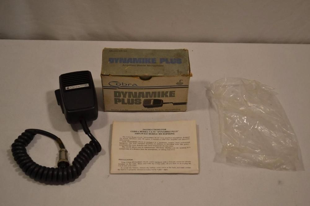 Vintage Cobra CA-50 Dynamic Plus Pre Amplified CB Microphone