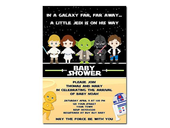 High Quality Star Wars Baby Shower Invitation By HappyDaysCreation On Etsy