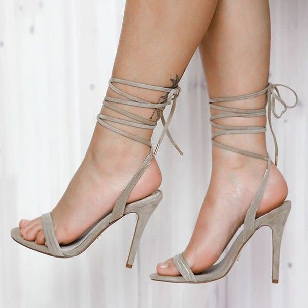 Shoes, $160 at Wheretoget | Beige heels