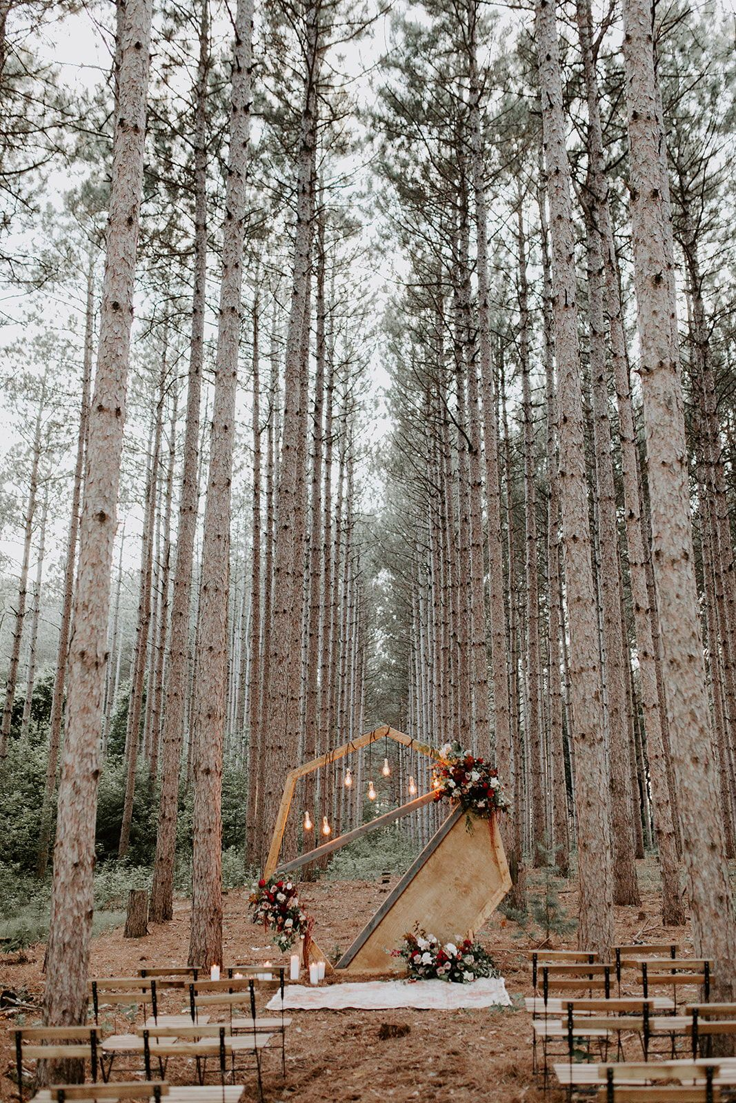 Intimate Wedding in the Woods Inspiration | Emmy Mae Bridal|a&bé bridal shop