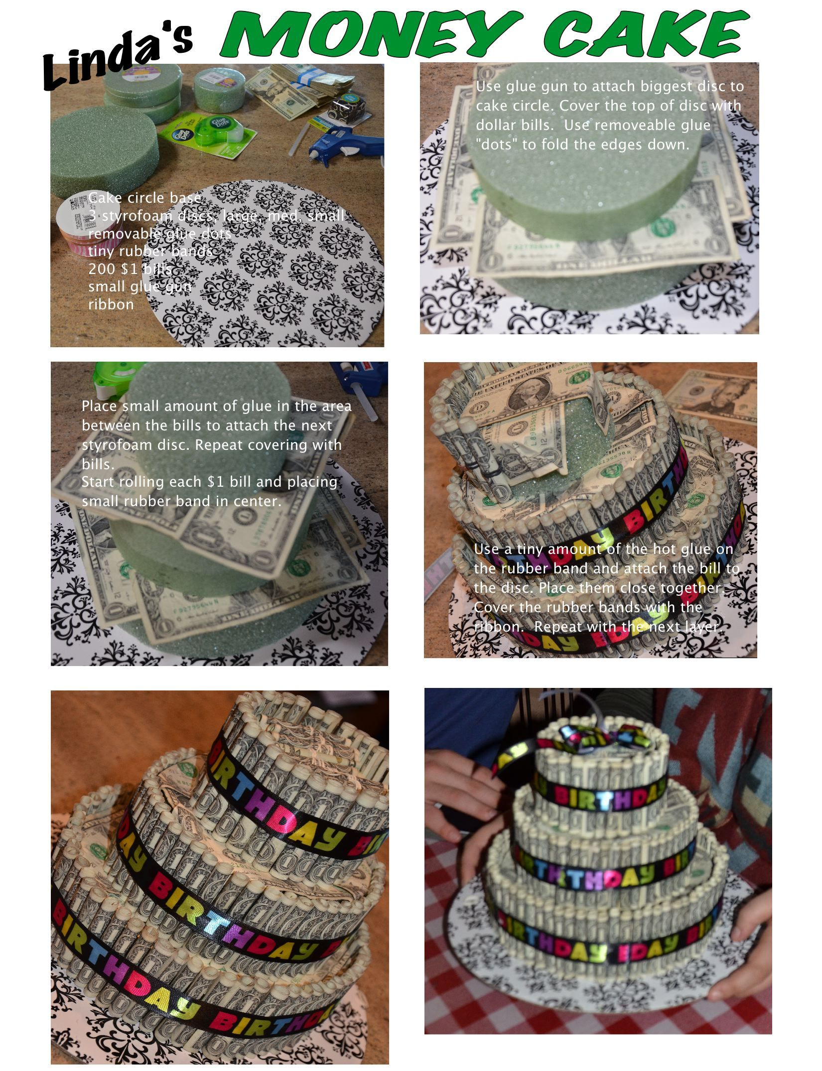 Money Cake! A perfect gift for a Birthday, Graduation or Wedding ...