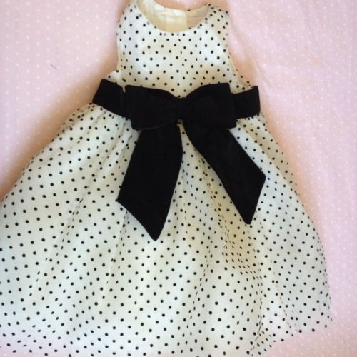 Janie & Jack Flocked Dot Organza Dress 3-6 Months Easter Special Occasion $$$
