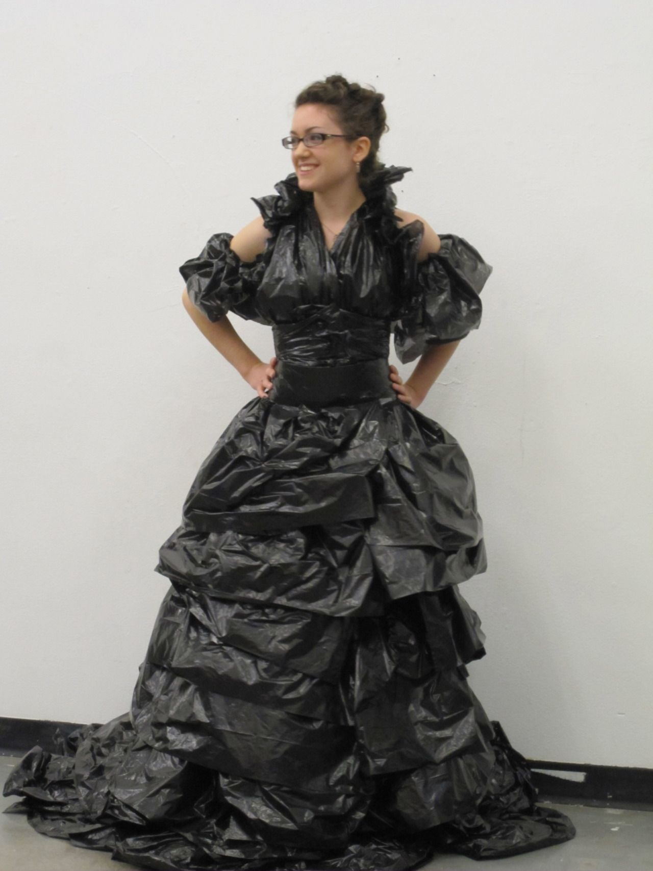 Commit error. Plastic bag dresses