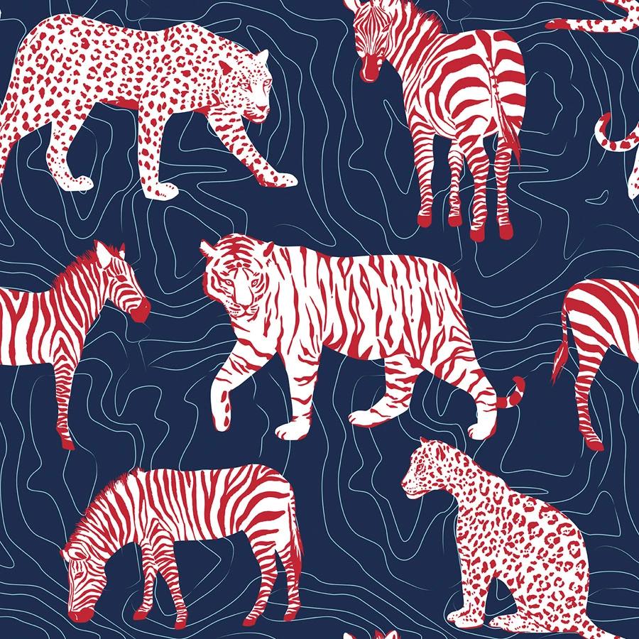 Spots and Stripes Wallpaper Striped wallpaper, Zebra
