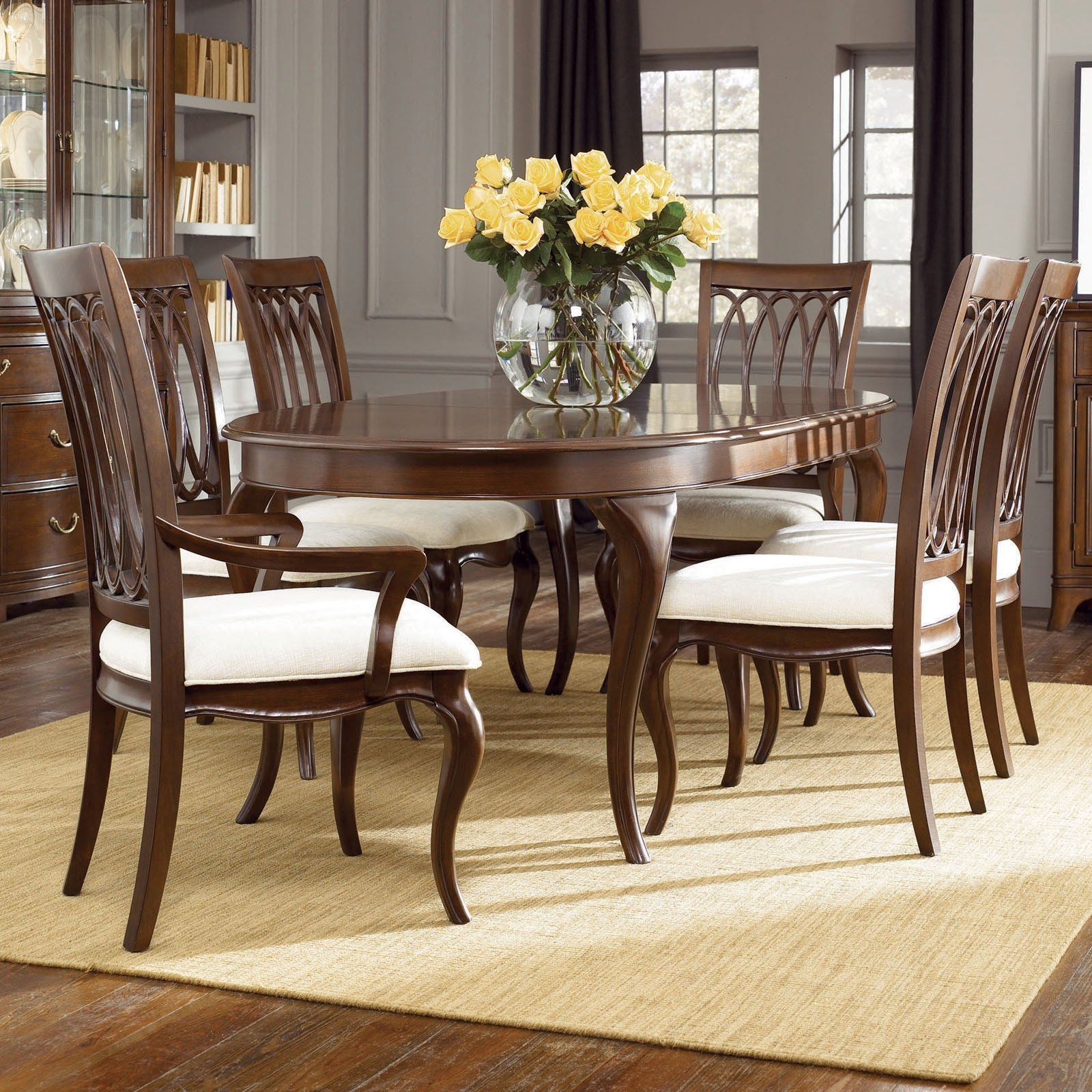 Have To Have Itamerican Drew Cherry Grove New Generation Oval Cool Traditional Dining Room Sets Cherry Design Decoration