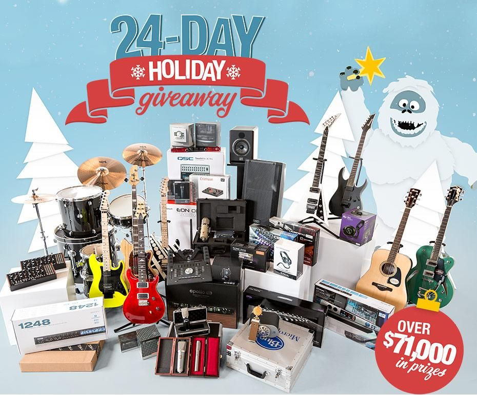24 Day Holiday Giveaway Holiday Giveaways Sweetwater Giveaway