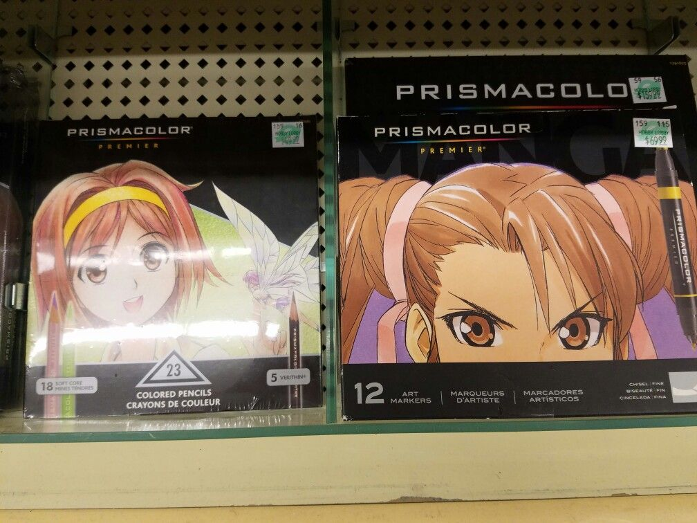 Prismacolor colored pencils and markers manga at Hobby Lobby