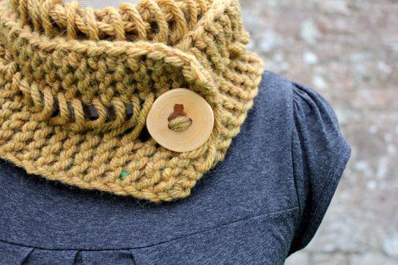 KNITTING PATTERN Dijon lace button scarf Listing103   Etsy ...