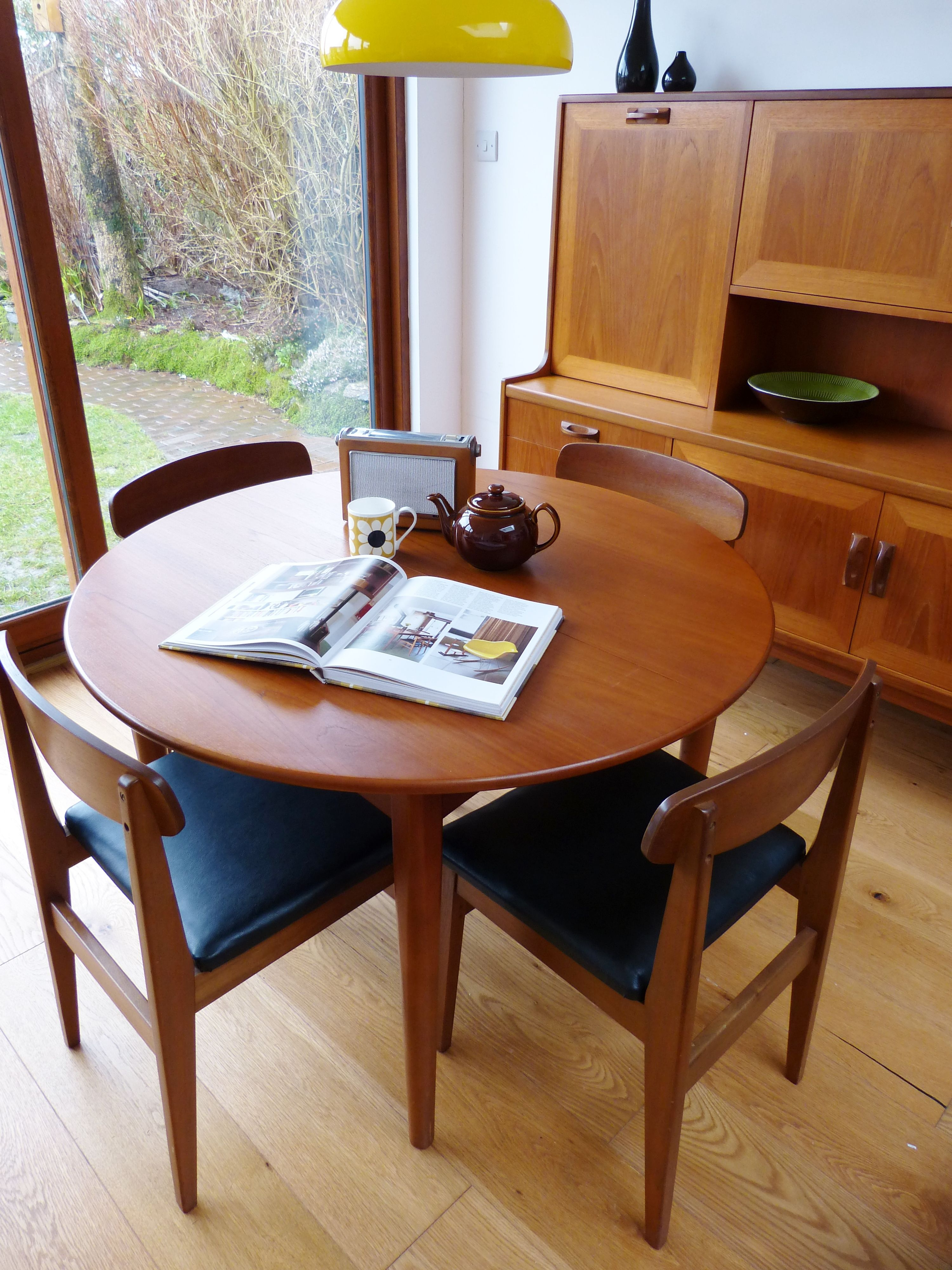Retro Beautility teak dining table and chairs with G Plan sideboard. & Retro Beautility teak dining table and chairs with G Plan sideboard ...