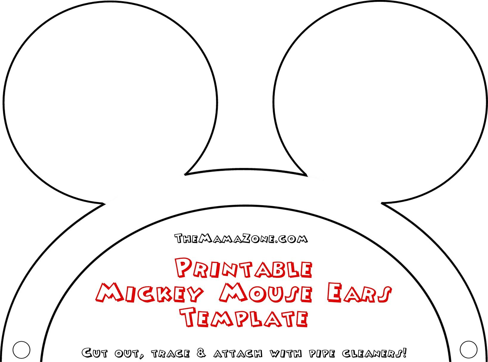 Click Here To Open The Printable Mickey Mouse Ear Template It Will In A New Window