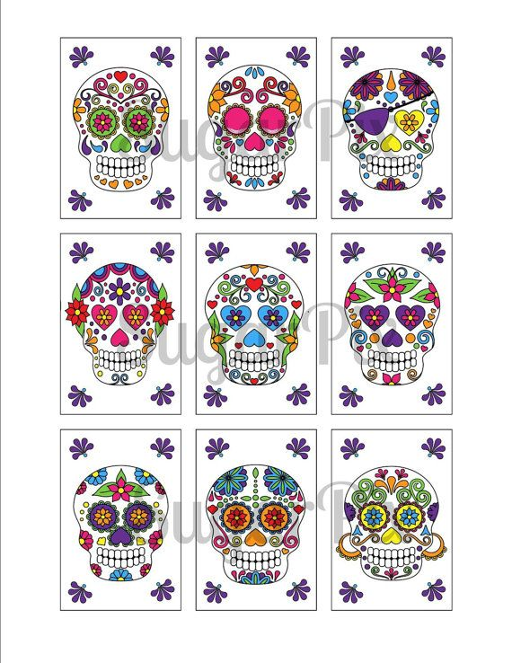 photo relating to Printable Sugar Sheets identified as SUGAR SKULL Edible Picture Icing Frosting Sheet / Cake by means of