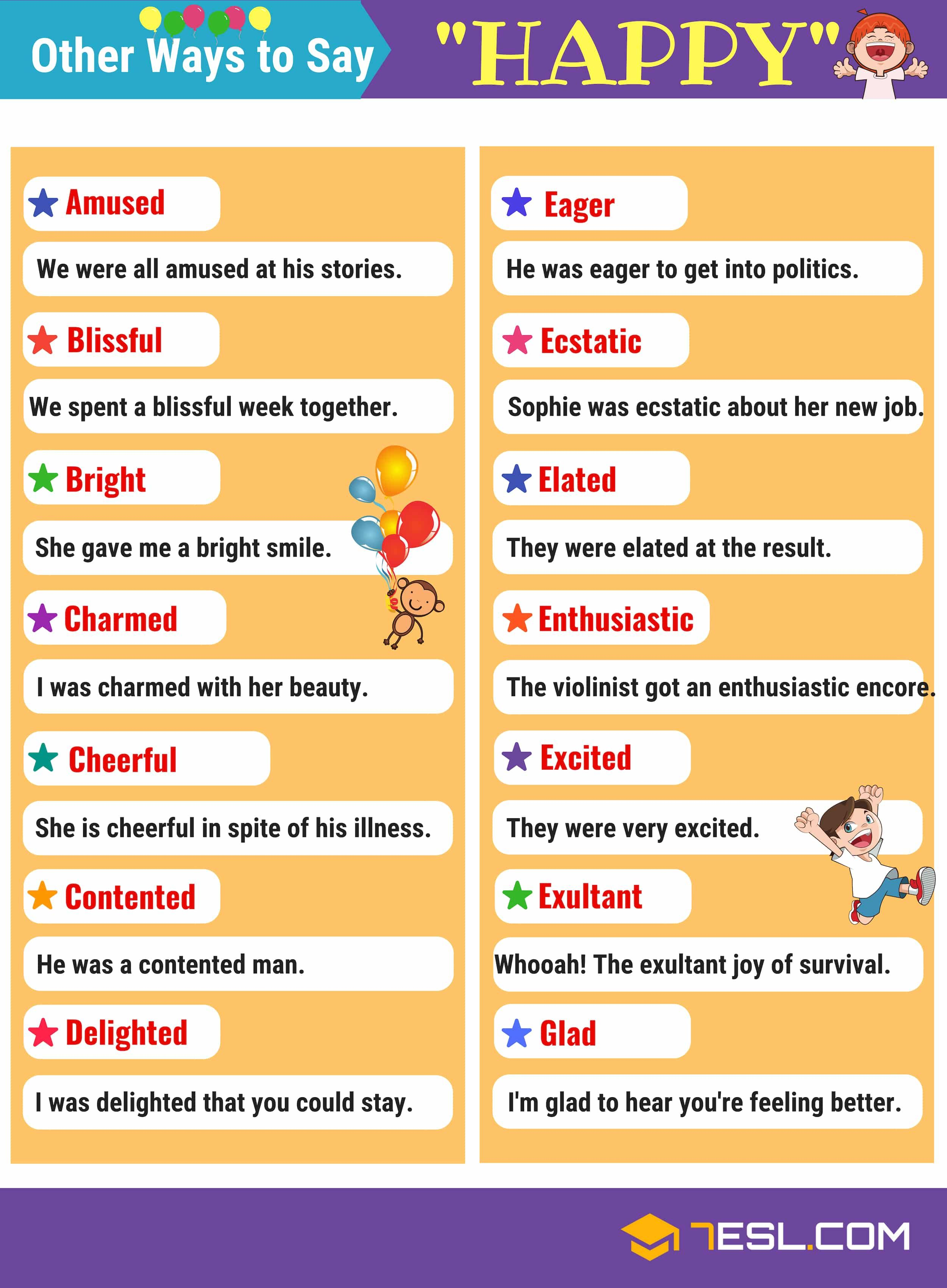 Happy Synonyms 105 Synonyms For Happy In English