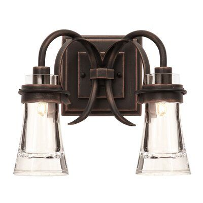 Photo of Gracie Oaks Fiqueroa 2-Light Vanity Light | Wayfair