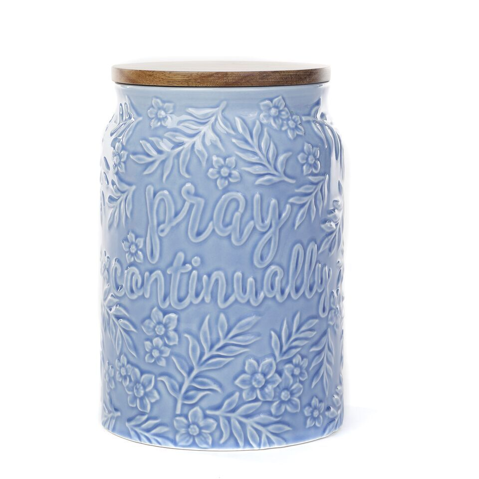 Pray Continually Canister | $32. Have this in my kitchen! | Mary ...