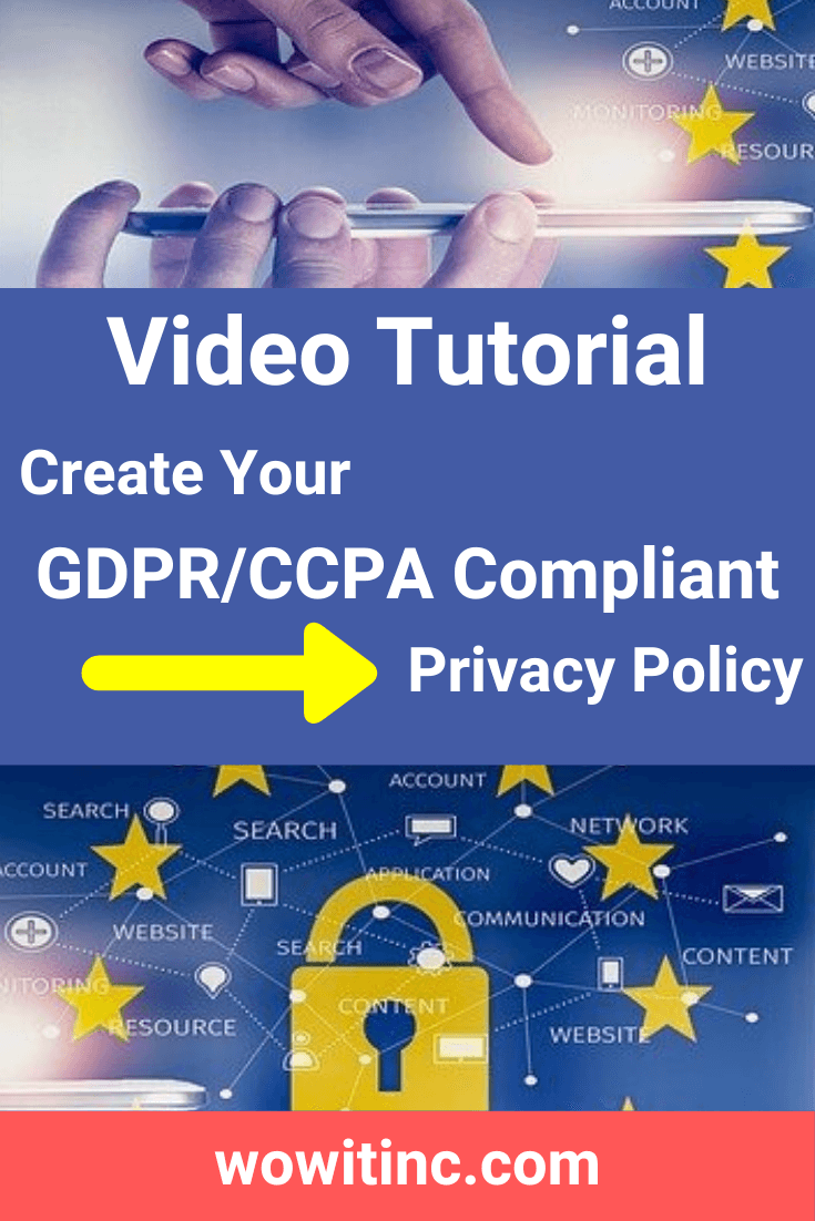 Privacy Policy Generator Ensure Your Site Is Gdpr Compliant In 2020 Advertising Networks Privacy Policy Medical Services