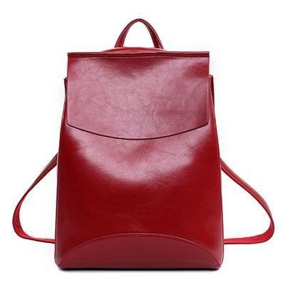 81ed672555 Fashion Women Backpack PU Leather School Bags For Teenagers Girls Leisure Backpacks  Female Travel Rucksack mochilas feminina