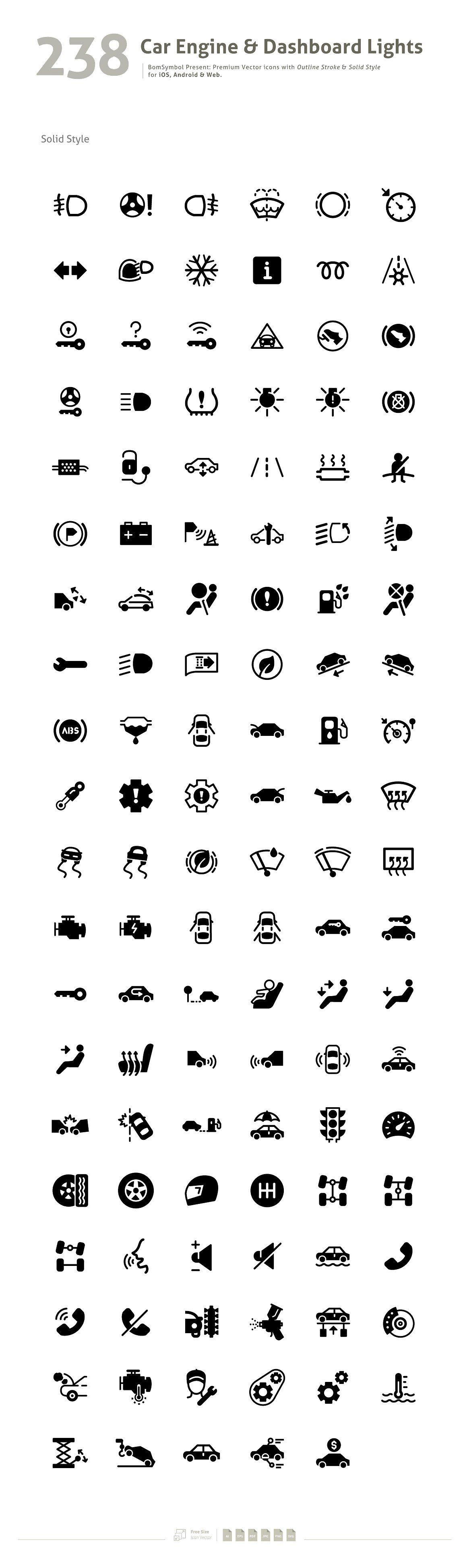 Car engine dashboard lights symbol icons 3 icon set car engine dashboard lights symbol icons 3 biocorpaavc