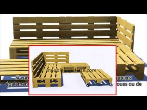 Comment construire un canapé de palette pour le jardin - YouTube ...
