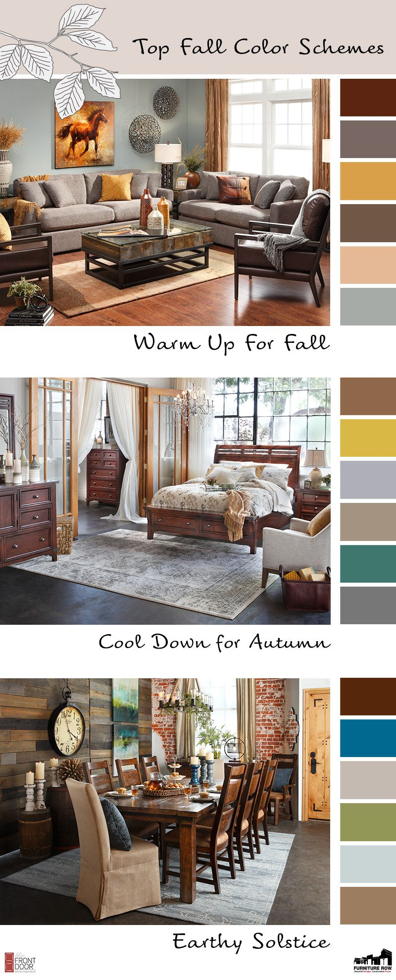 top fall color schemes for interior decorating - the front