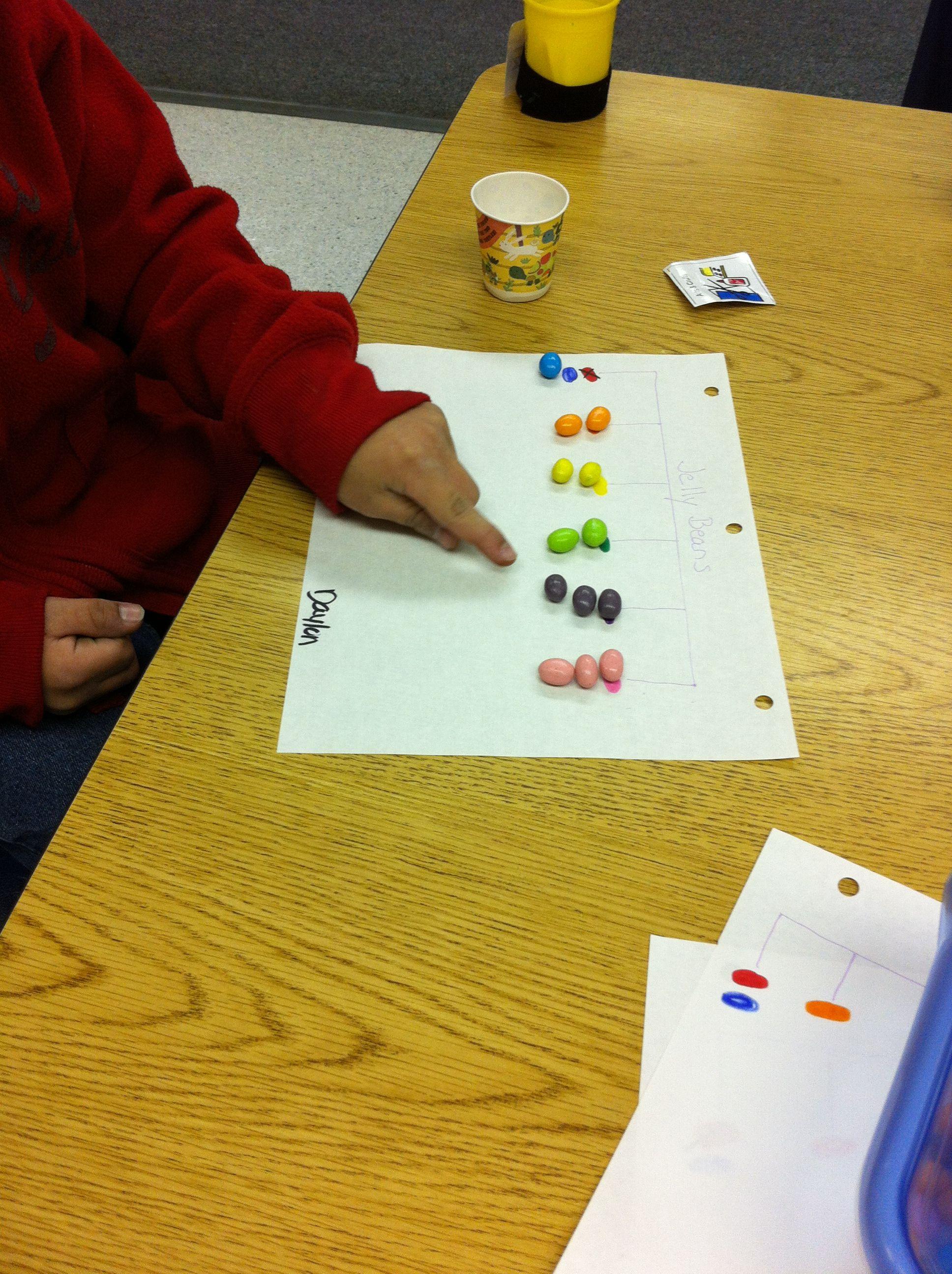 Jelly Bean Color Sorting Preschool Activity