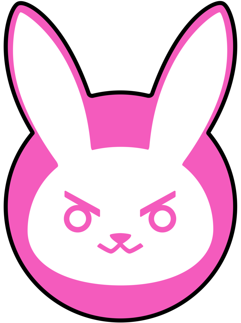 I love this D.va bunny logo so much! Overwatch tattoo