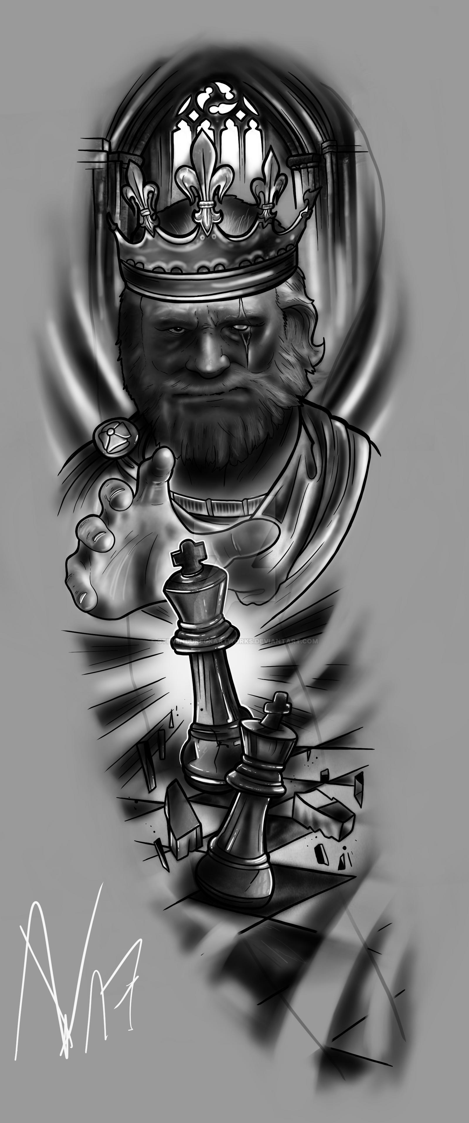 FULLSLEEVE Design - The King is back by StevenDureckArtworks on DeviantArt