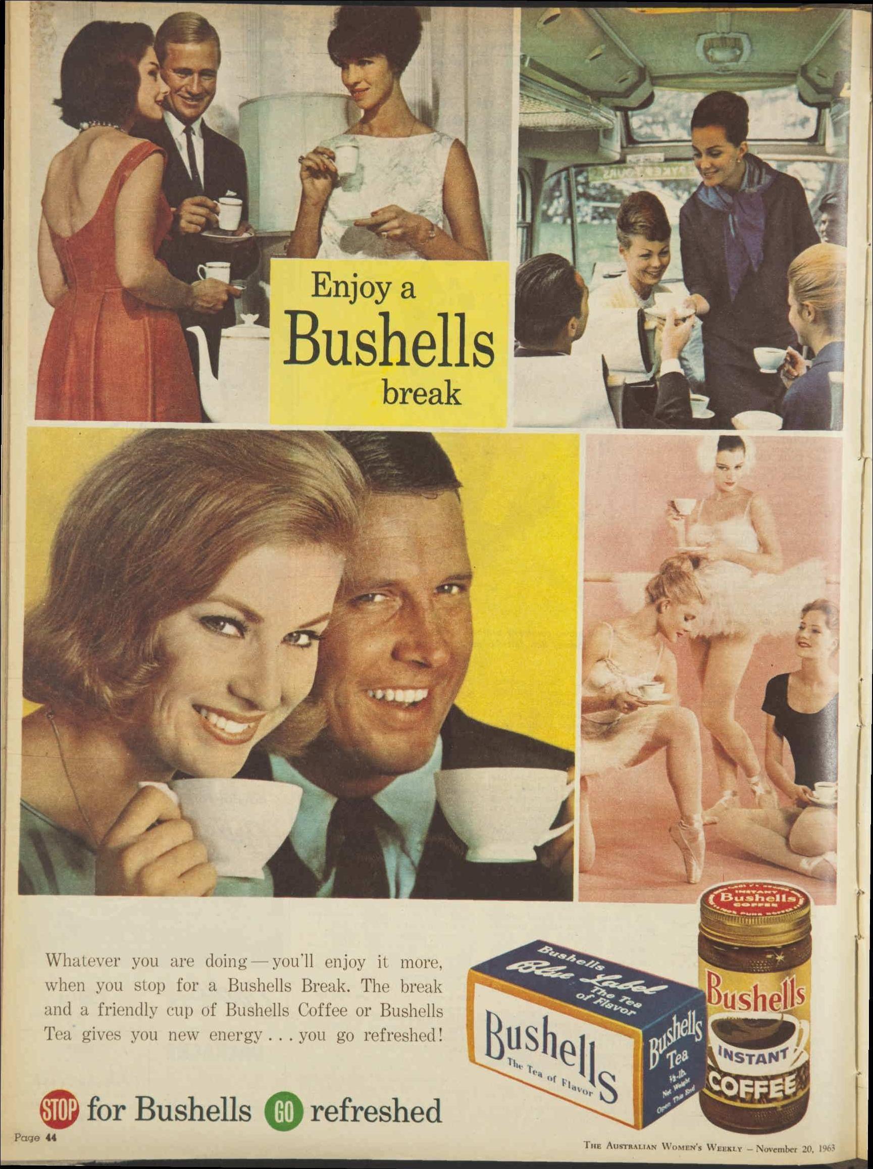 Issue 20 Nov 1963 The Australian Women S Wee Vintage Advertisement Fun Sports Bushells