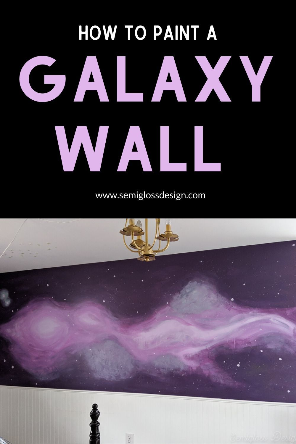 How To Paint A Diy Galaxy Wall Mural Space Painting Murals