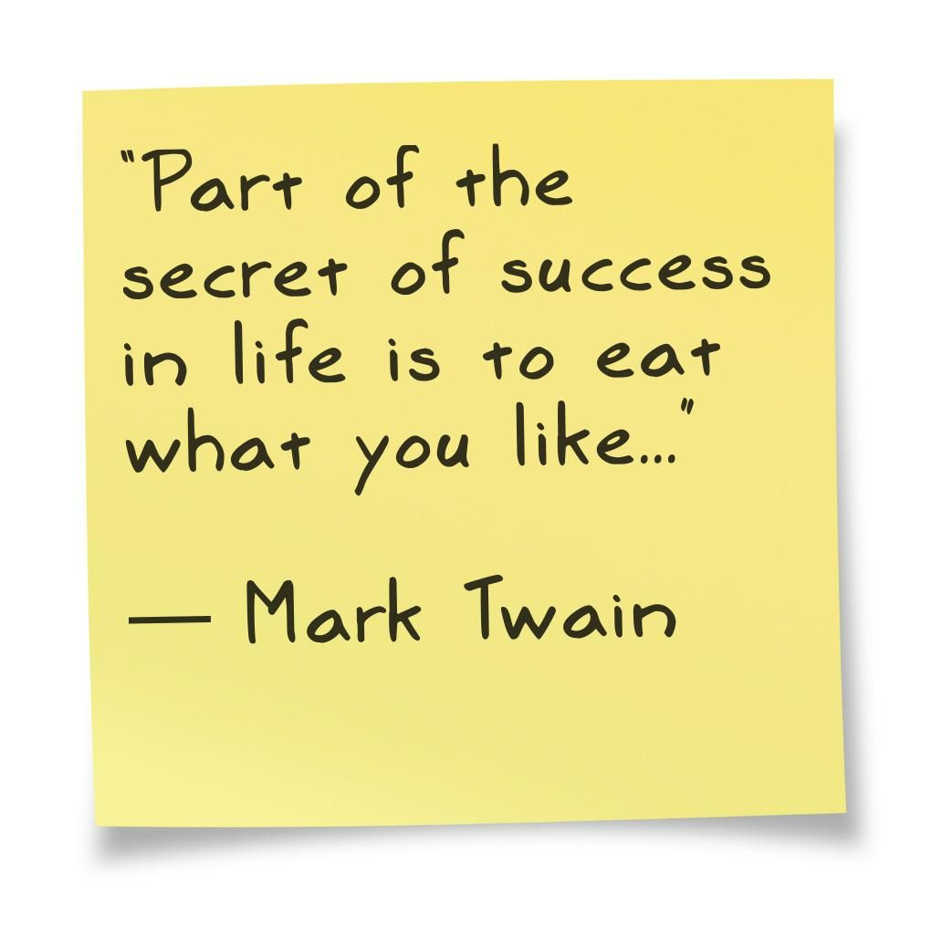 Mark twain quote about food food beverage for Cuisine quotes
