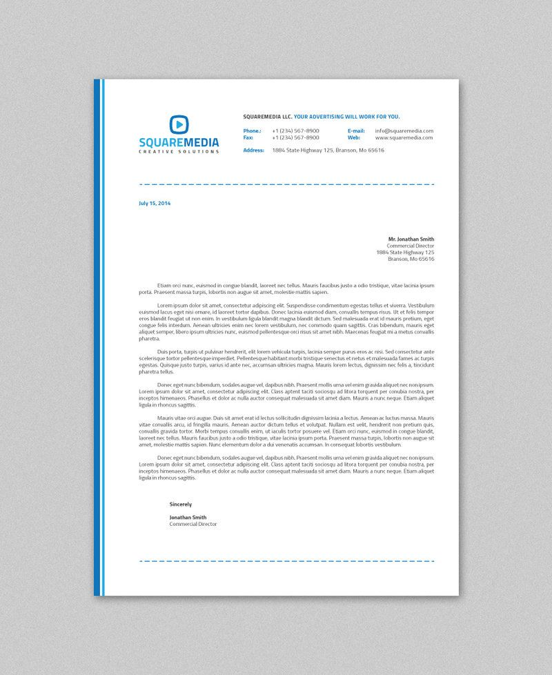 Corporate Letterhead Company Letterhead Business Corporate Letter