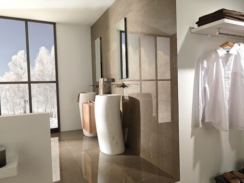 Porcelanosa's Thai #stone #sink#bathroom  Bazaar  Pinterest Amazing Bathroom Bazaar Design Ideas
