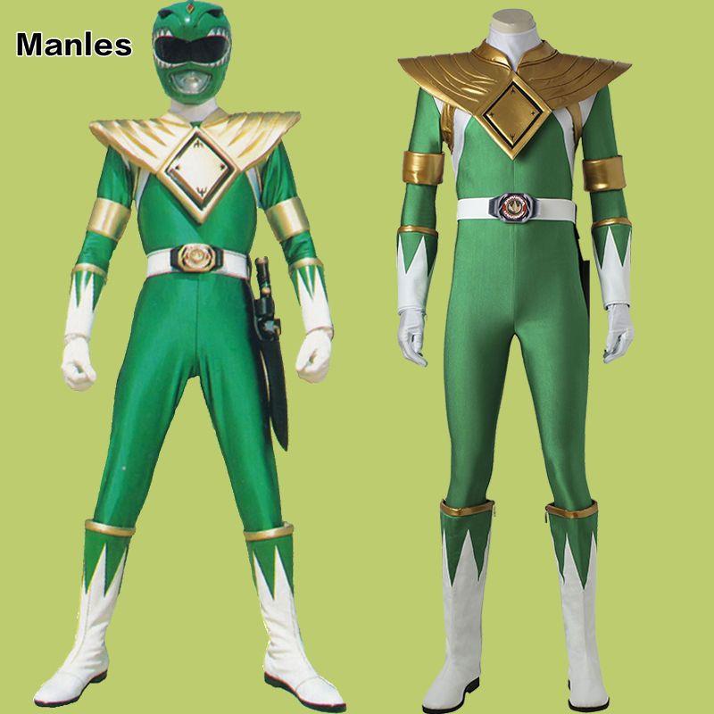Mighty Morphin Power Ranger Burai Cosplay Costume Zyuranger Green Dragon  Ranger 9ab8f77ef