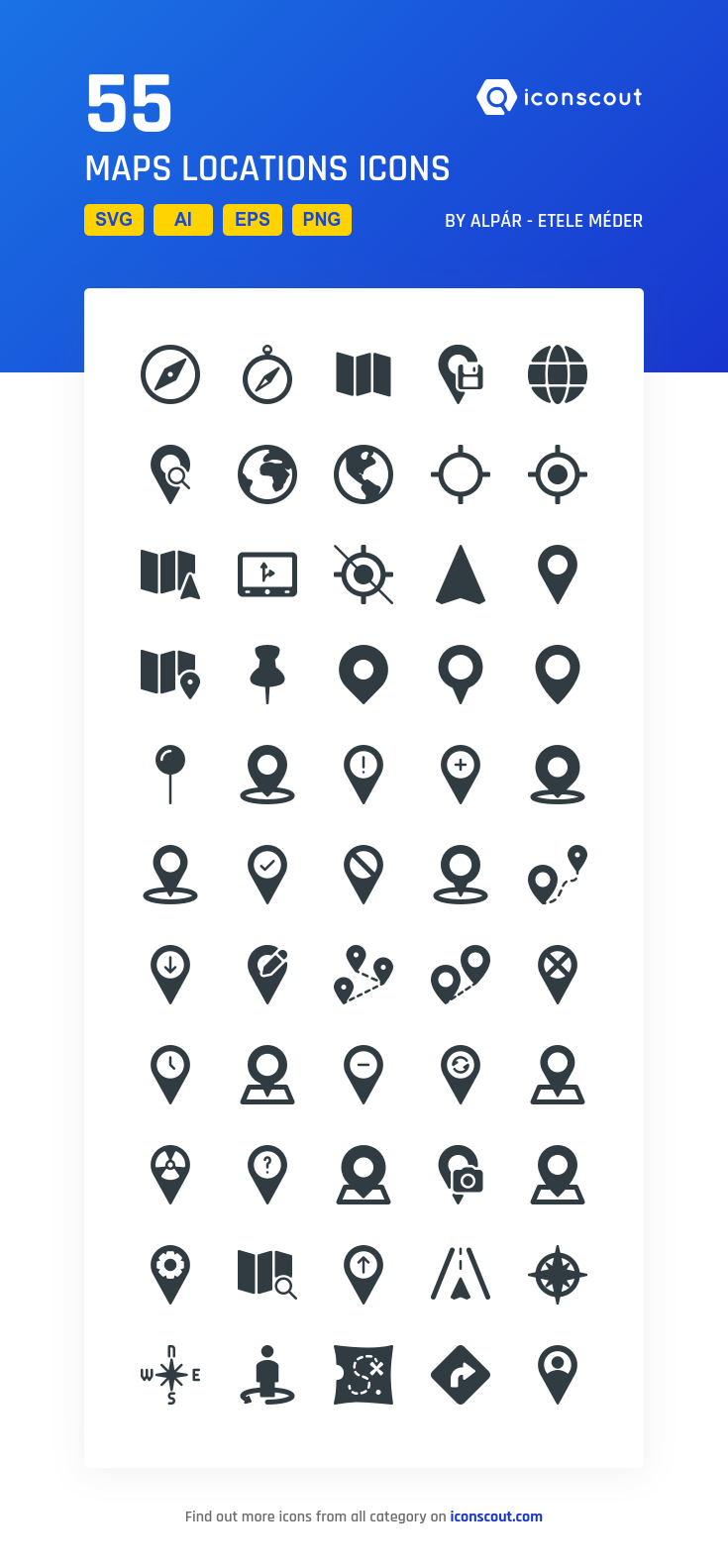 Download Maps Locations Icon pack Available in SVG, PNG