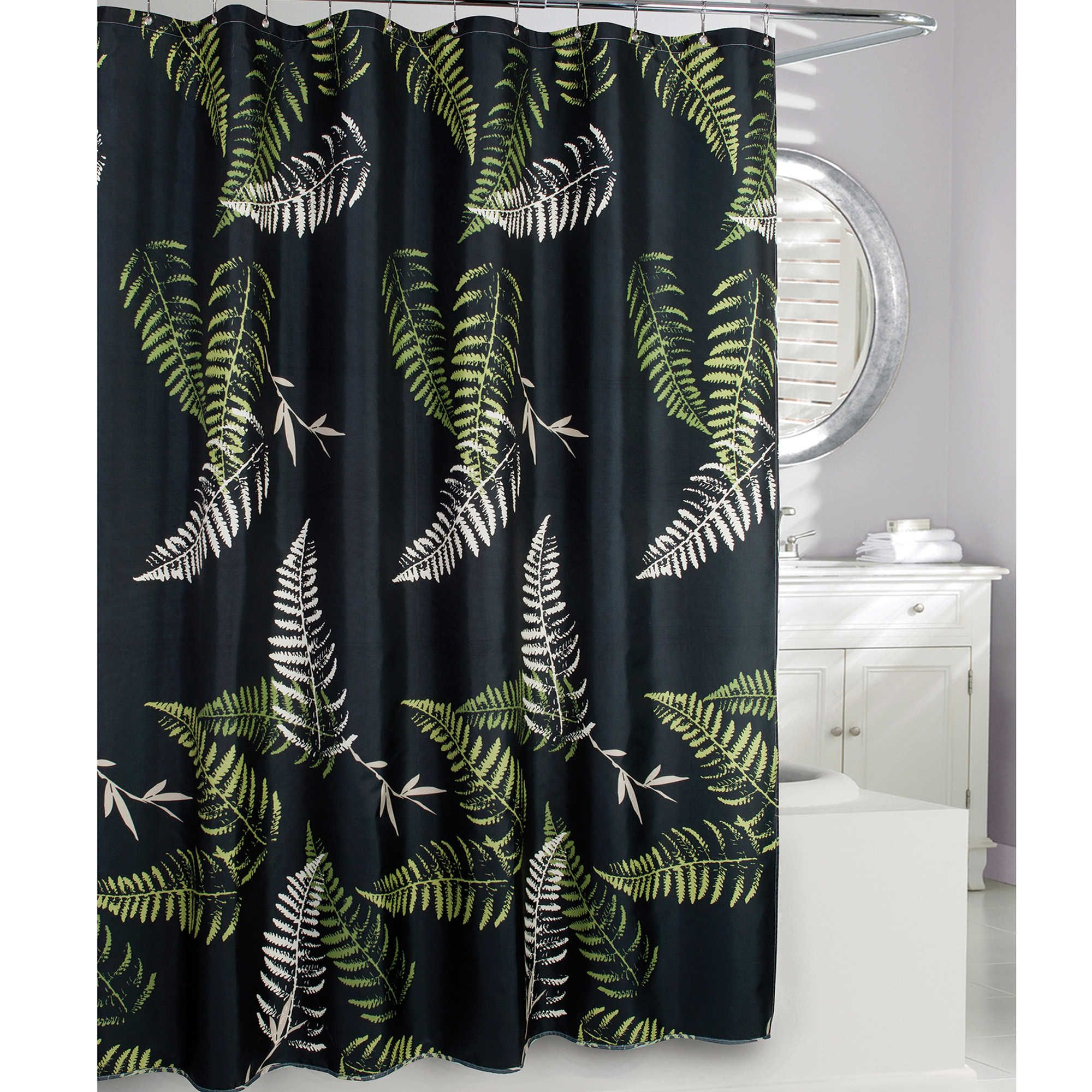 Moda At Home Fern Frond Fabric Shower Curtain Fabric Shower Curtains Shower Curtain Curtains