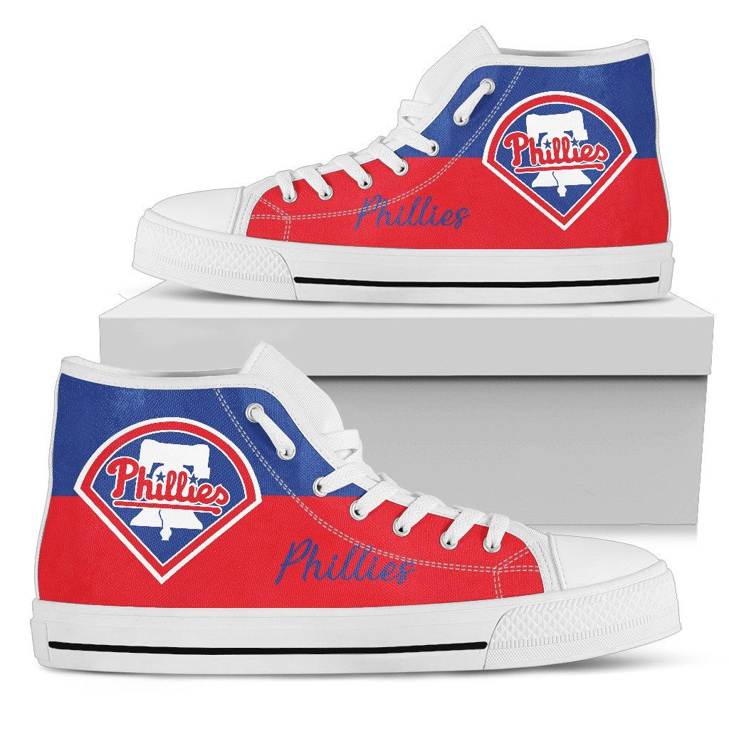 c72cb849 Thor Head Beside Philadelphia Phillies High Top Shoes | Philadelphia  Phillies Colorful As Albums | Philadelphia Phillies, Shoes, High Top  Sneakers