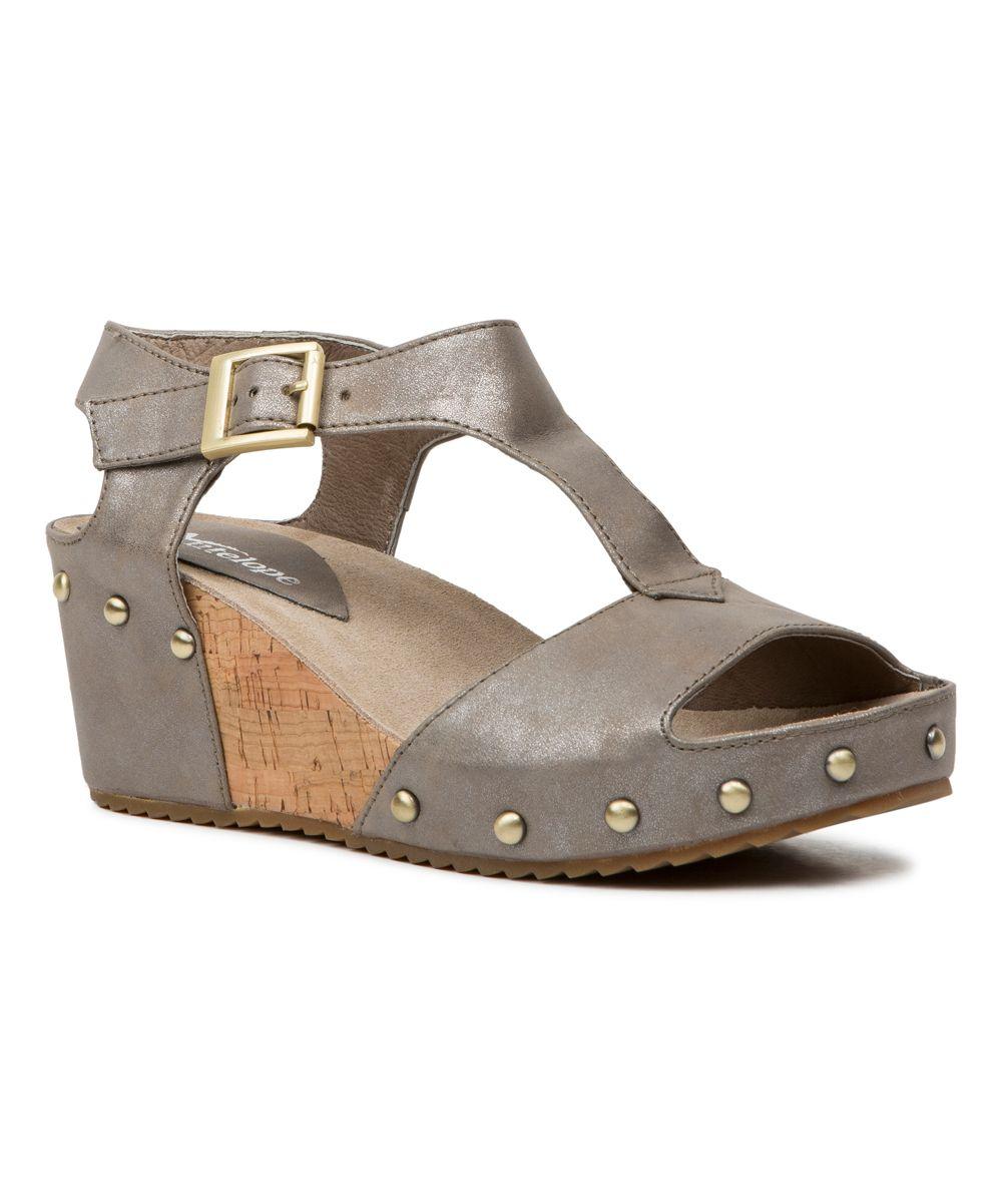 Copper embellished leather tstrap sandal t strap