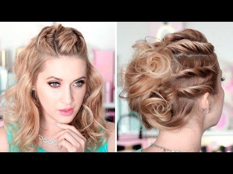 15 Tutoriales para cabello largo de peinados para fiestas