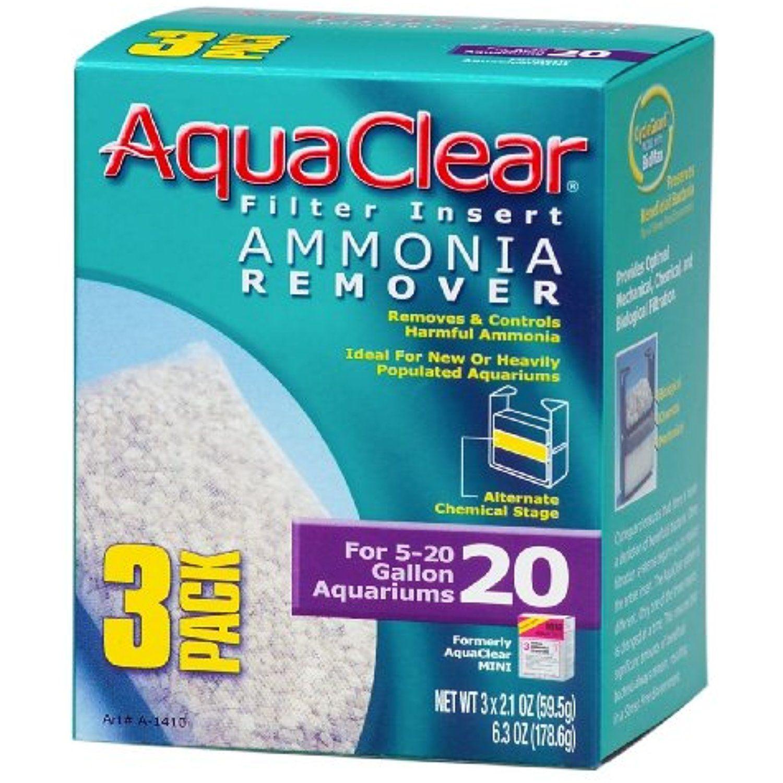 AquaClear Ammonia Remover Filter Inserts 5-20 Gallon Aquarium