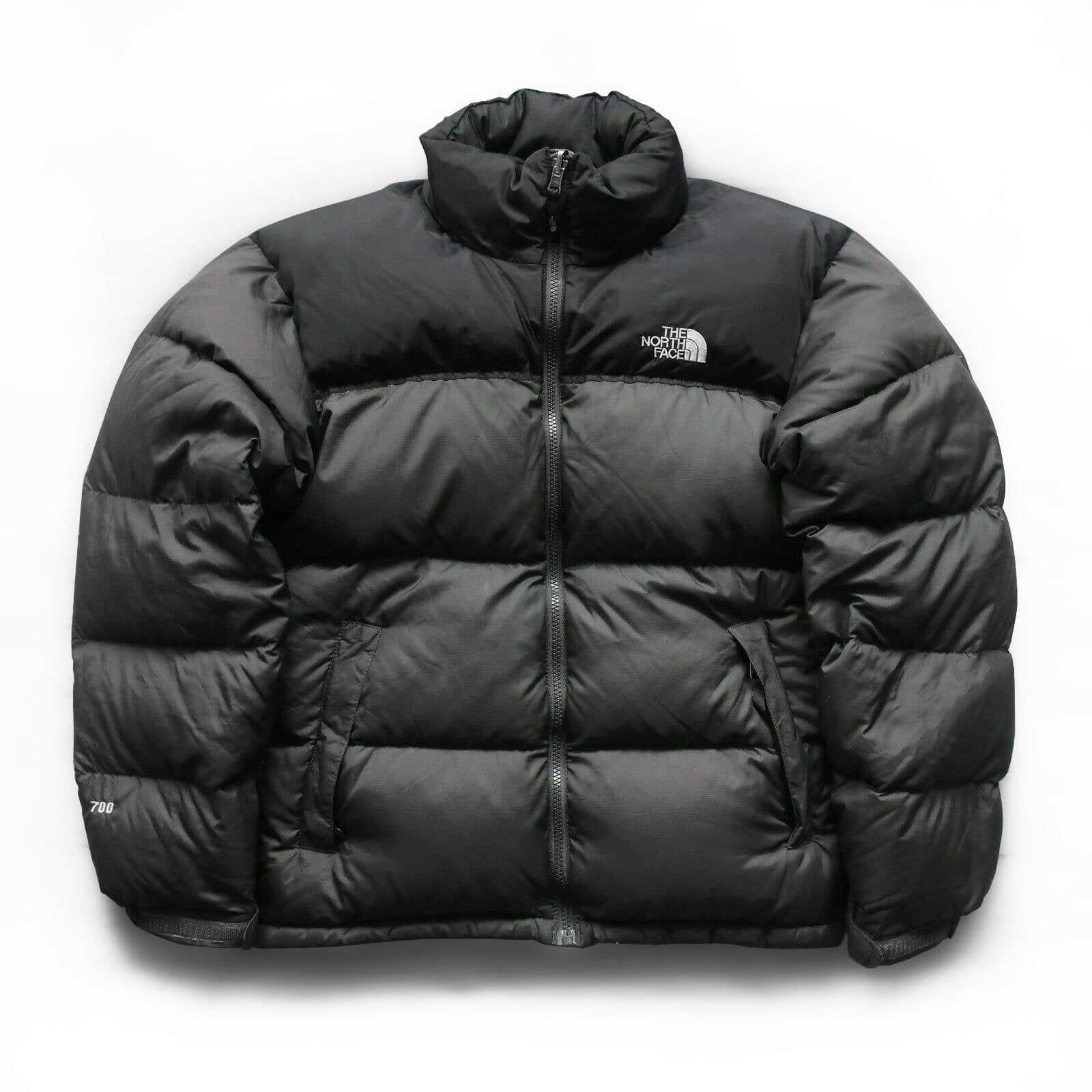 Vintage The North Face 700 Down Nuptse Puffer Jacket Black And Gray Sz M North Face 700 Puffer Jacket Black The North Face [ 1600 x 1600 Pixel ]