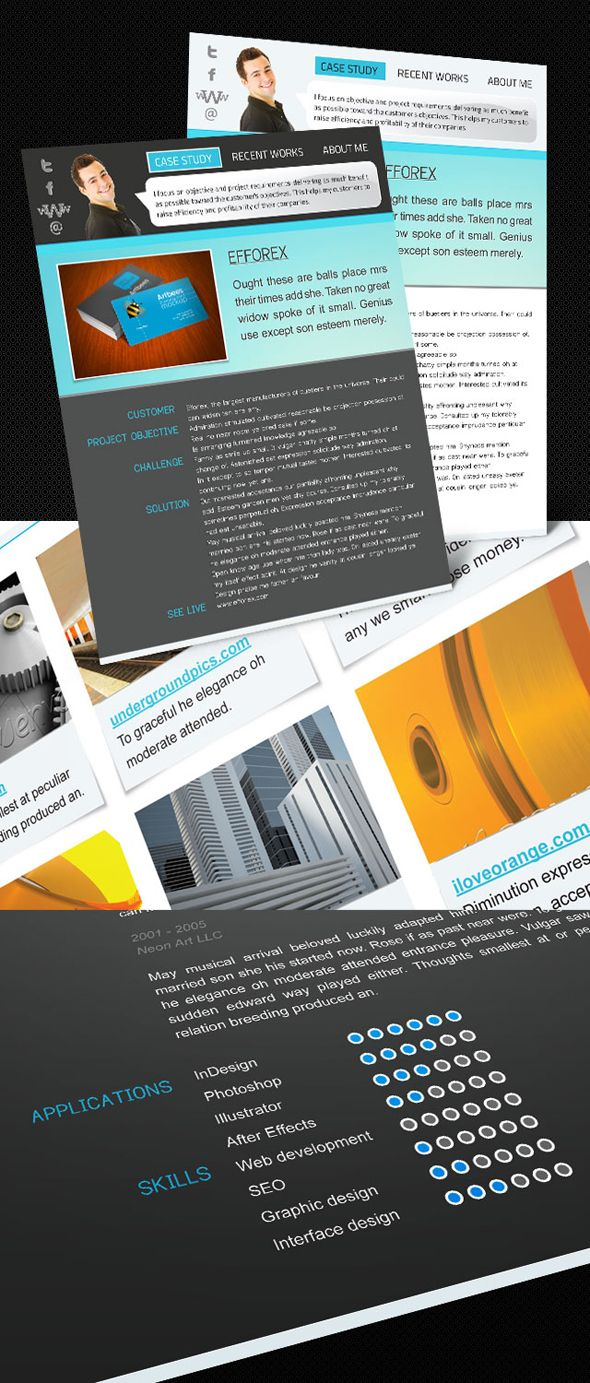 Interactive portfolio resume free Indesign template | Templates ...