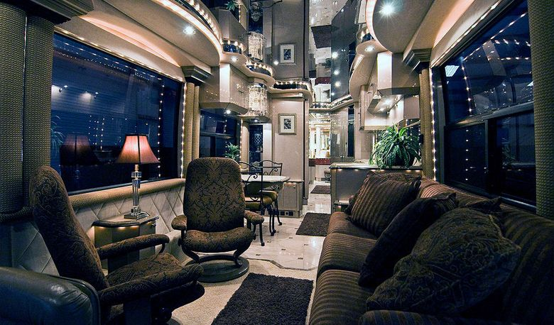 The 10 most luxury bus designs luxury motorhomes Tour bus interior design